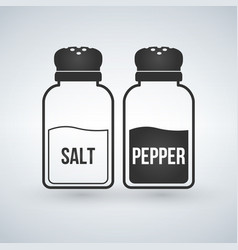 salt and pepper shakers flat design icon isolated vector image