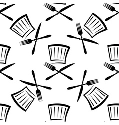 Seamless food and beverage background pattern vector image