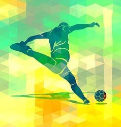 Silhouette kicking footballer vector image vector image