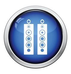 Audio system speakers icon vector image