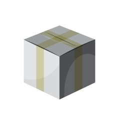 Cardboard box taped up icon cartoon style vector image