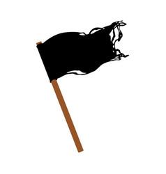 cartoon pirates black flag isolated vector image