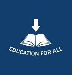 education for all vector image