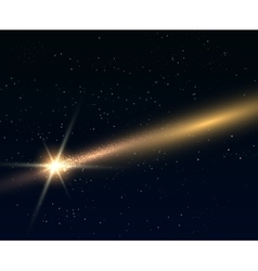 Falling bright star or comert vector image vector image