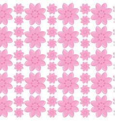 flower garden seamless pattern design vector image