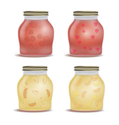 glass jar with with jam vector image