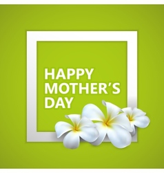 Happy Mothers Day label with flowers vector image