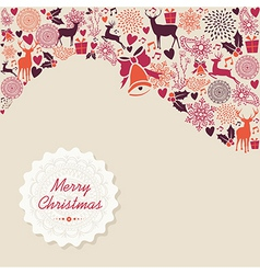 Merry Christmas vintage elements background file vector image