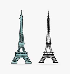 symbol eiffel tower vector image