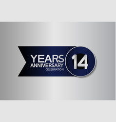 14 years anniversary logo style with circle vector