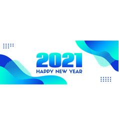 2021 happy new year abstract blue long vector image