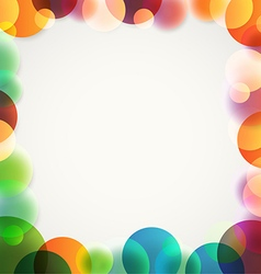 Abstract background of different color circles vector image