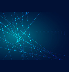 abstract blue laser line with sparkle lighting on vector image