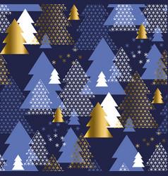 abstract geometric christmas tree seamless pattern vector image