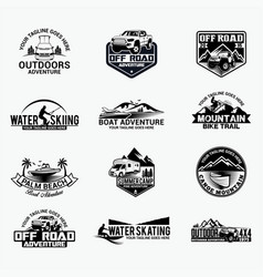 Adventure logo badges 9 vector