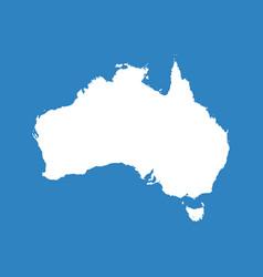 Australia map flat vector