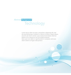 blue technoplogy background vector image