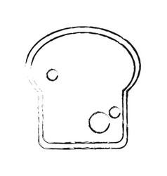 Blurred silhouette slice of bread vector