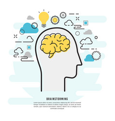 brainstorming and idea design vector image
