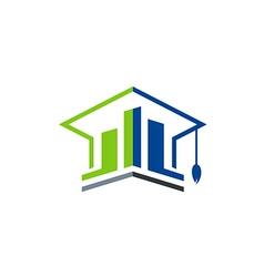 Business education graduate logo vector