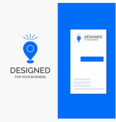 Business logo for location pin camping holiday vector