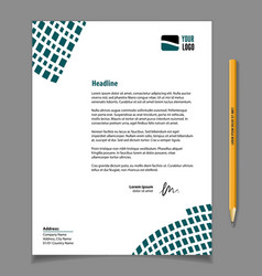 business style letterhead template design vector image