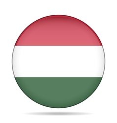 Button with flag of Hungary vector