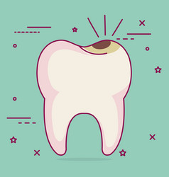 Caries dental care icon vector
