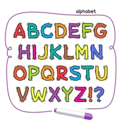 Cartoon Colorful Doodle Alphabet vector image