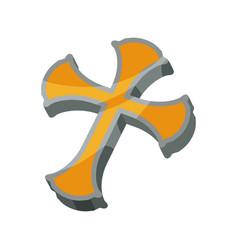 christianity cross symbol vector image