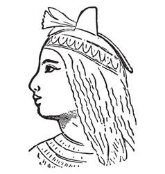 Cleopatra vintage vector