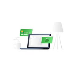 concept e-commerce vector image