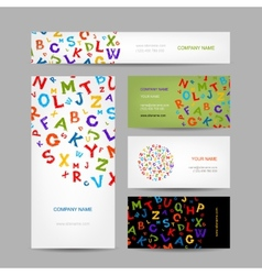 Creative business cards design with letters vector