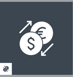 currency exchange related glyph icon vector image
