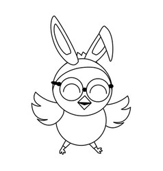 Cute chick easter vector