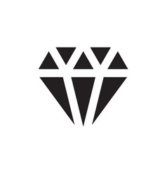 diamond icon in flat style icon for apps ui vector image