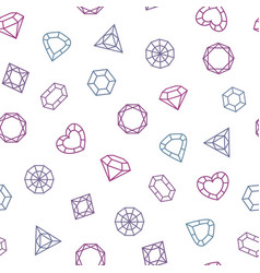 different shaped crystals set seamless pattern vector image
