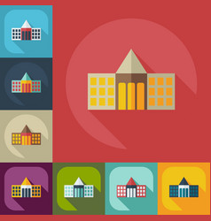 Flat modern design with shadow icons court vector