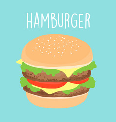 Fresh cheese hamburger graphic vector