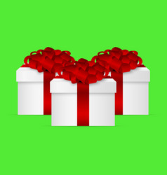 gift in a box with a red bow vector image