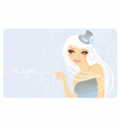girl beauty vector image
