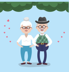 grandparents lovely couple vector image