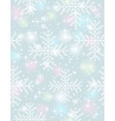 Grey background with many snowflakes vector image