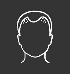 Hair loss chalk icon vector