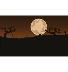 Halloween Scary backgrounds and full moon vector