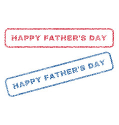 Happy father s day textile stamps vector