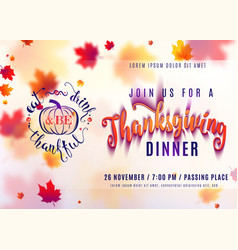 horizontal thanksgiving vector image