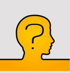 Human head with question vector