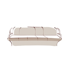icon sofa vector image vector image