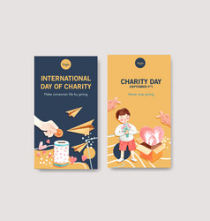 instagram template with international day vector image